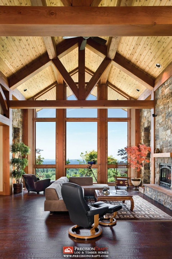 65 Mountain Cabin Plans Hillside Awesome Washington Timber Frame Home I Great Room I Precisioncraft Luxury