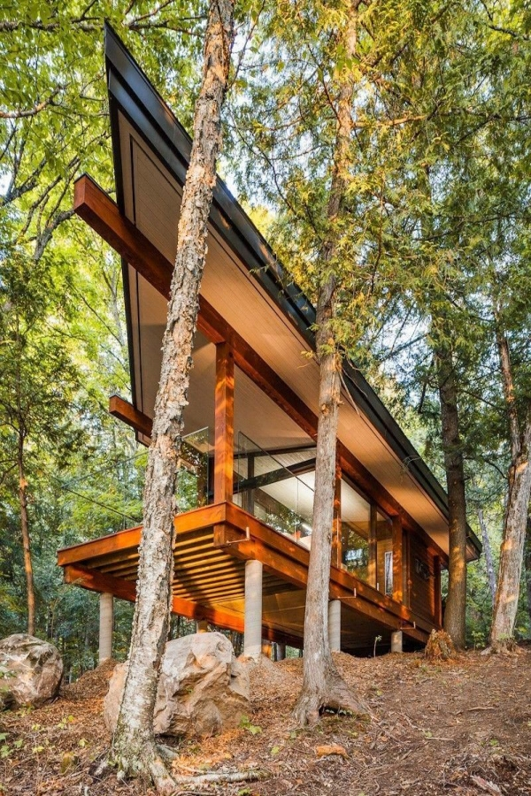 65 Mountain Cabin Plans Hillside New the Eyes Have It — Nevver A Cabin In the Woods Cabins