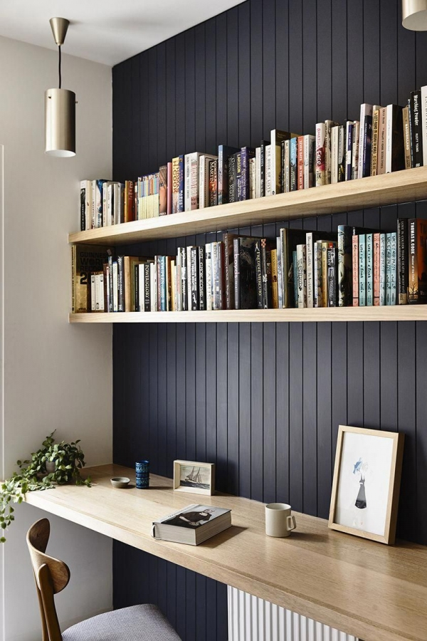 74 Ideas Strap Shelf Bracket Lovely This is Nice for Our Little Office area Dark Panelled Wall with