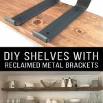 88 Wood Shelves with Metal Brackets Awesome Custom Hook Shelf Bracket Handcrafted Rustic Reclaimed Salvaged