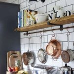88 Wood Shelves with Metal Brackets Beautiful 30 Inspiring Rustic Kitchen Decorating Ideas 13
