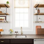 88 Wood Shelves with Metal Brackets Beautiful Dare to Pair Dark Woods In Your Next Kitchen This Bold Contrast