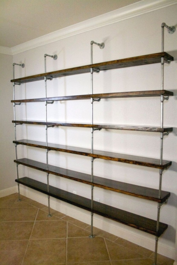 88 Wood Shelves with Metal Brackets Beautiful Industrial Shelving Unit Industrial Fice Furniture Fice