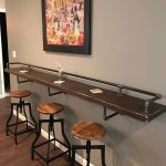 88 Wood Shelves with Metal Brackets Best Of Industrial Black Pipe Drink Bar Rail with 3 Shelf Support Brackets