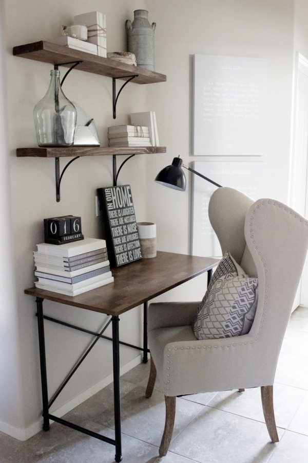 88 Wood Shelves with Metal Brackets Inspirational Home Decorating Ideas Small Home Office Desk In Rustic Industrial