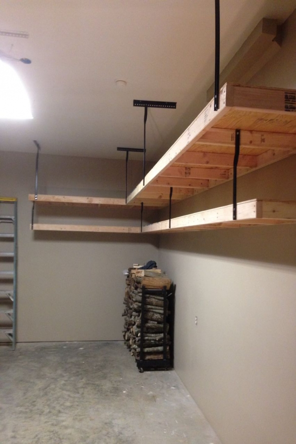 88 Wood Shelves with Metal Brackets Lovely Garage Shelves Using 2x4s Plywood and Wrought Iron Brackets and