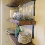 88 Wood Shelves with Metal Brackets Luxury Reclaimed Shelves with Hand Made Brackets