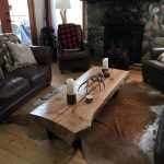93 Live Edge Coffee Table Luxury Cabin Decor with Custom Live Edge Coffee Table with Metal Wheels for