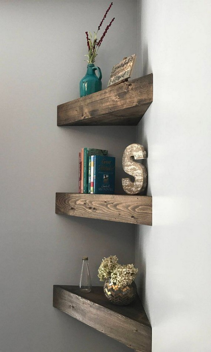 ✔️ 55 wall shelves design ideas show off your precious possessions with floating wall shelves 47