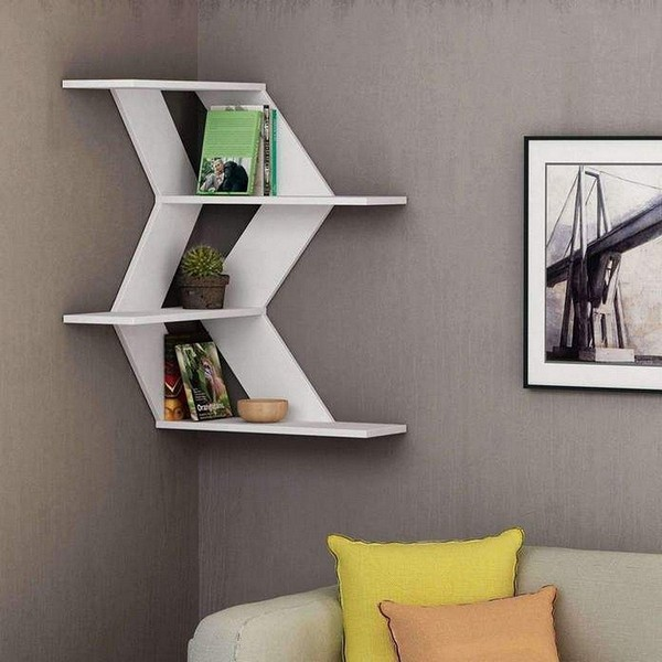 55 Luxury Corner Shelves Ideas 024