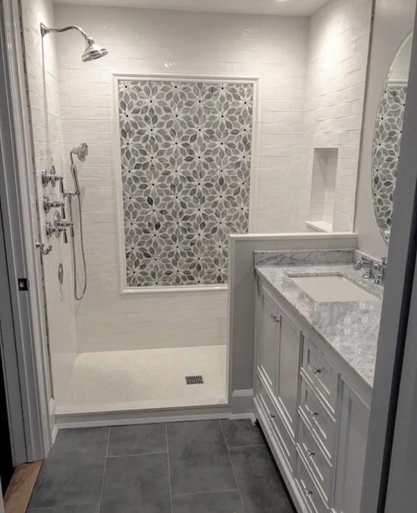 tile shower ideas for small bathrooms installing accent