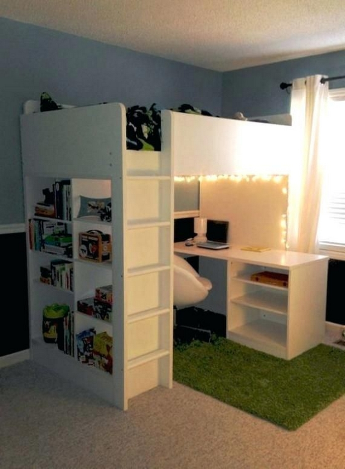 30+ Bunk Beds Design Ideas With Desk Areas Help To Make Compact Bedrooms Bigger 1