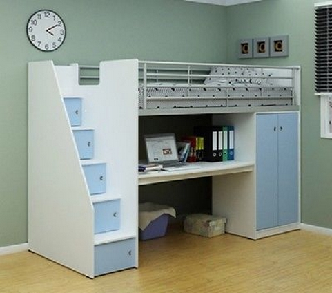 30+ Bunk Beds Design Ideas With Desk Areas Help To Make Compact Bedrooms Bigger 11