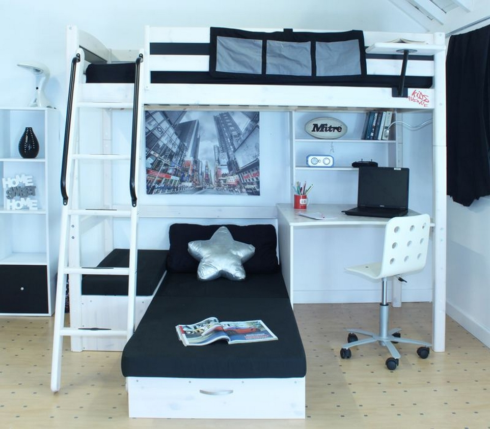 30+ Bunk Beds Design Ideas With Desk Areas Help To Make Compact Bedrooms Bigger 24