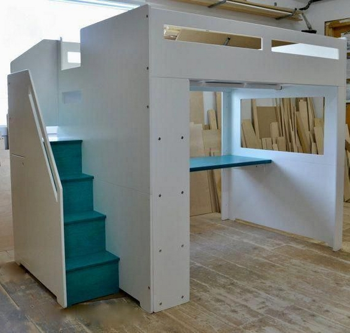 30+ Bunk Beds Design Ideas With Desk Areas Help To Make Compact Bedrooms Bigger 27
