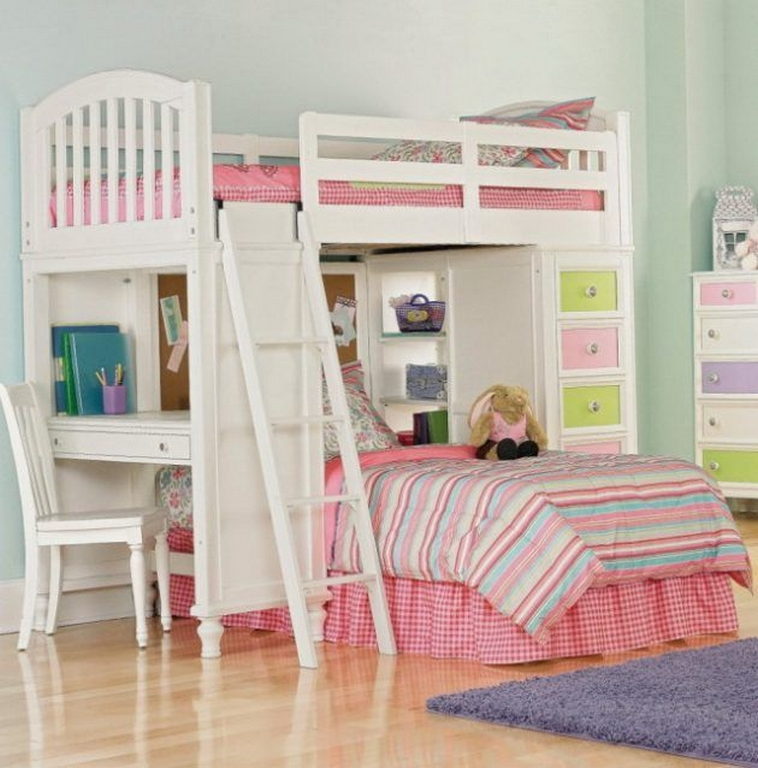 30+ Bunk Beds Design Ideas With Desk Areas Help To Make Compact Bedrooms Bigger 3