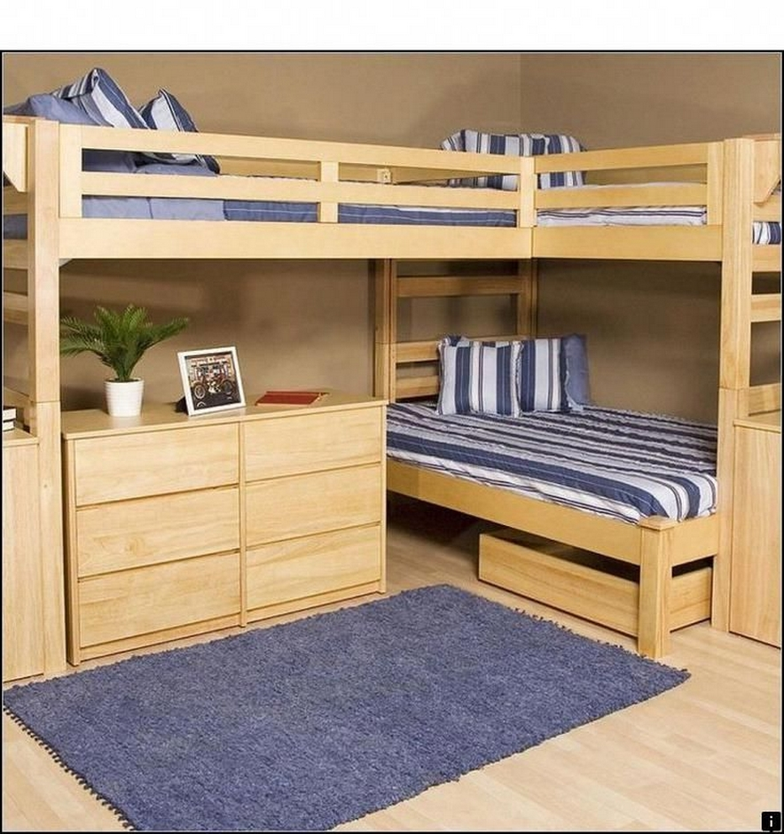 30+ Bunk Beds Design Ideas With Desk Areas Help To Make Compact Bedrooms Bigger 4