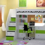30+ Bunk Beds Design Ideas With Desk Areas Help To Make Compact Bedrooms Bigger 8