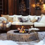 85 Awesome Winter Patio Decorating Ideas with Fire Pit - Making Your Patio Warm and Cozy-8511