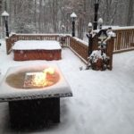 85 Awesome Winter Patio Decorating Ideas with Fire Pit - Making Your Patio Warm and Cozy-8562