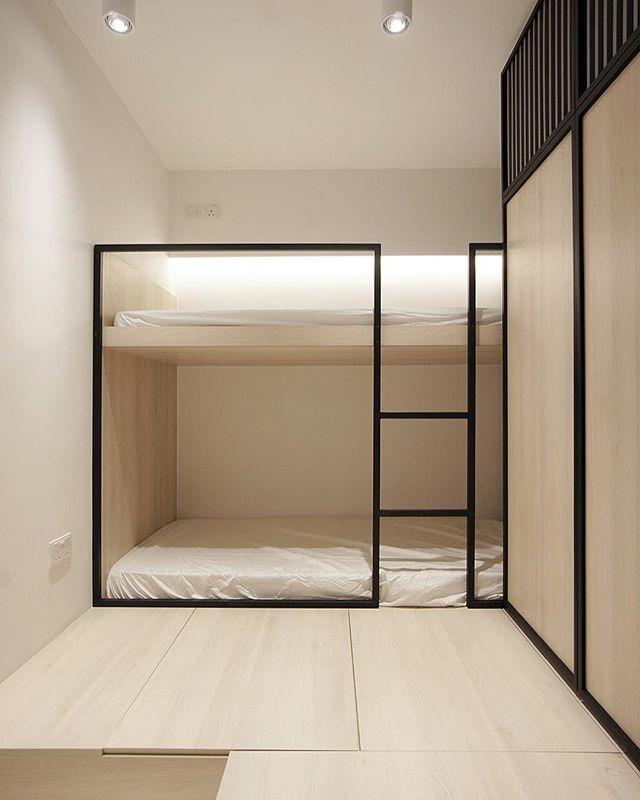 94 Minimalist Bunk Beds Design Ideas - Tips for Designing the Space-10154