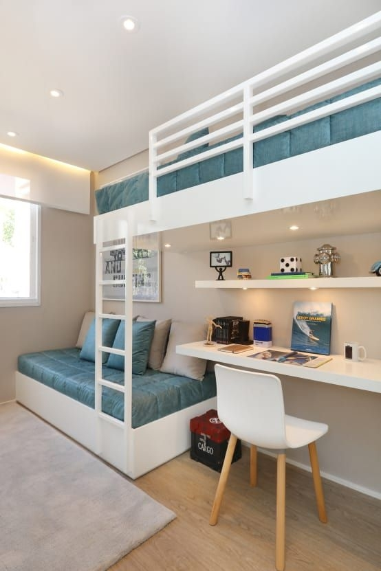 94 Minimalist Bunk Beds Design Ideas - Tips for Designing the Space-10225