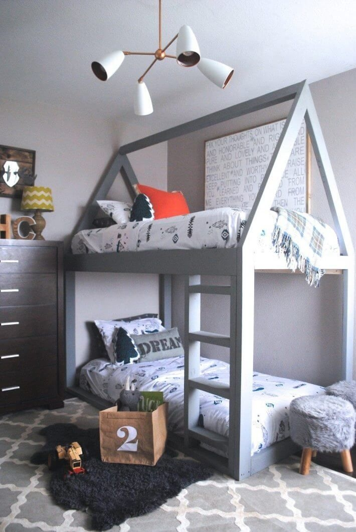 94 Minimalist Bunk Beds Design Ideas - Tips for Designing the Space-10160