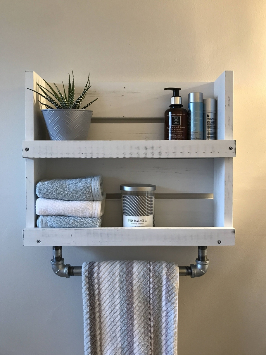 96 Models Bathroom Shelf with Industrial Farmhouse towel Bar - Tips for Buying It-9041