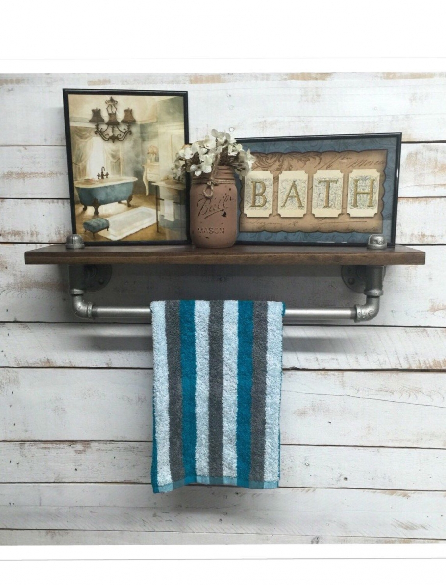 96 Models Bathroom Shelf with Industrial Farmhouse towel Bar - Tips for Buying It-9046