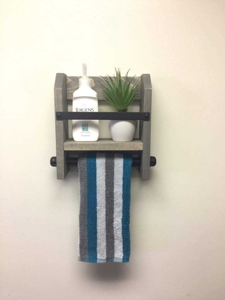 96 Models Bathroom Shelf with Industrial Farmhouse towel Bar - Tips for Buying It-9048