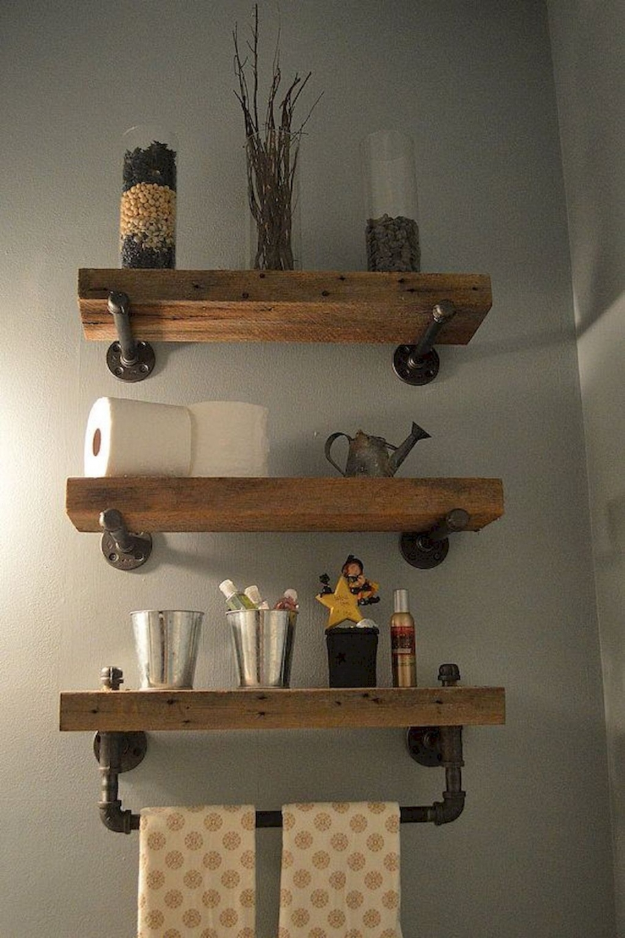 96 Models Bathroom Shelf with Industrial Farmhouse towel Bar - Tips for Buying It-9057