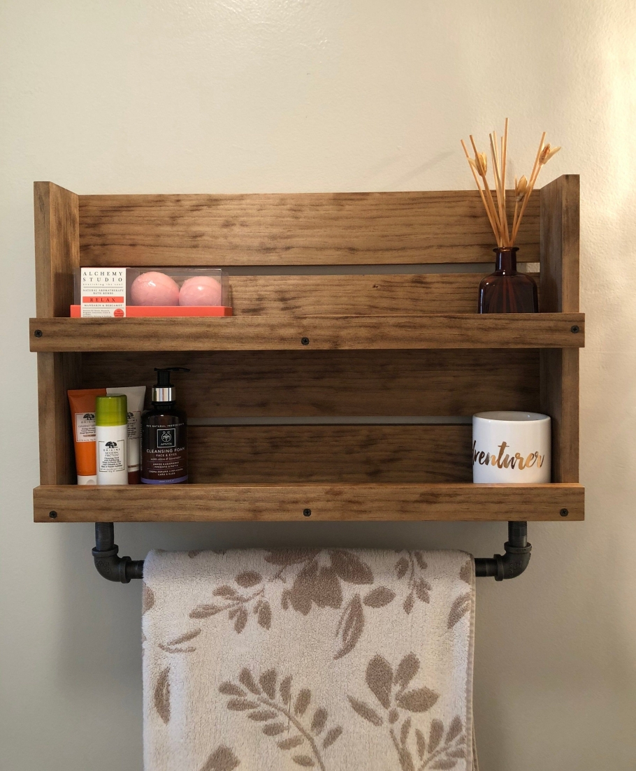 96 Models Bathroom Shelf with Industrial Farmhouse towel Bar - Tips for Buying It-9081