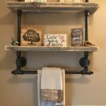 96 Models Bathroom Shelf with Industrial Farmhouse towel Bar - Tips for Buying It-9089
