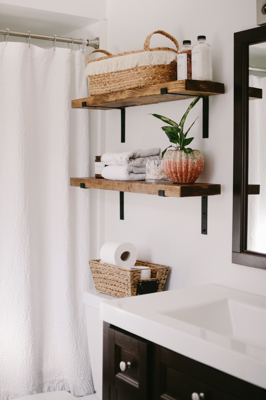 96 Models Bathroom Shelf with Industrial Farmhouse towel Bar - Tips for Buying It-9090