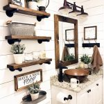96 Models Bathroom Shelf with Industrial Farmhouse towel Bar - Tips for Buying It-9095