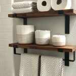 96 Models Bathroom Shelf with Industrial Farmhouse towel Bar - Tips for Buying It-9037