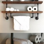 96 Models Bathroom Shelf with Industrial Farmhouse towel Bar - Tips for Buying It-9103