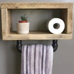 96 Models Bathroom Shelf with Industrial Farmhouse towel Bar - Tips for Buying It-9118