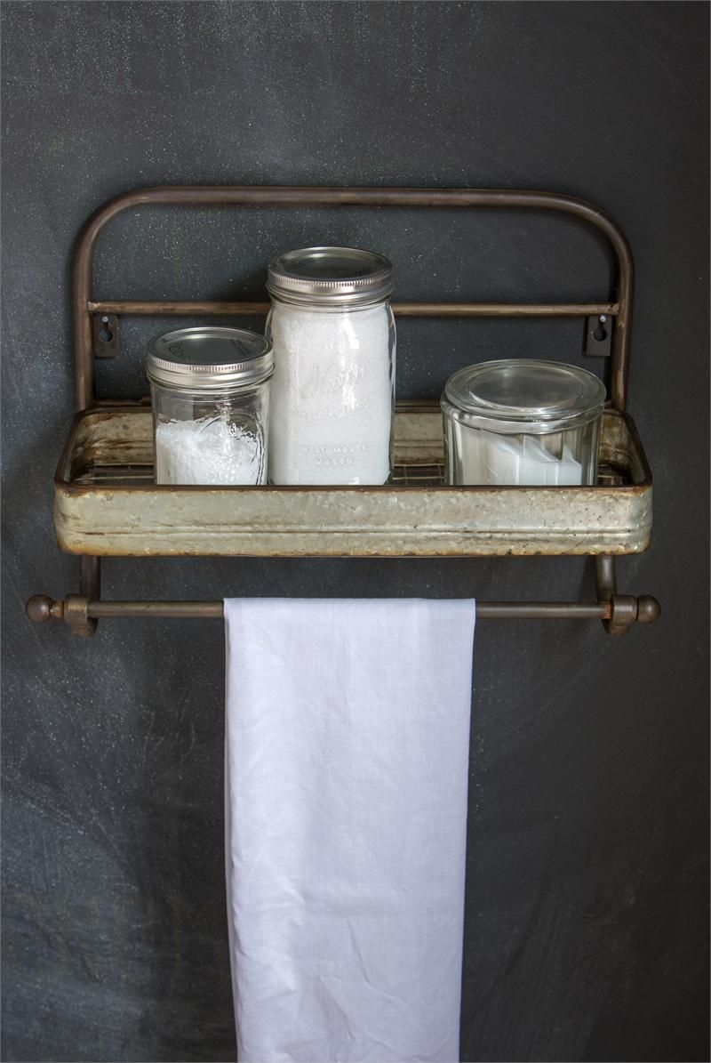 96 Models Bathroom Shelf with Industrial Farmhouse towel Bar - Tips for Buying It-9039