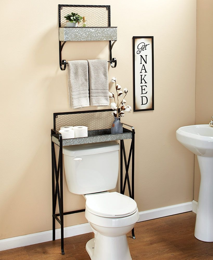 96 Models Bathroom Shelf with Industrial Farmhouse towel Bar - Tips for Buying It-9122
