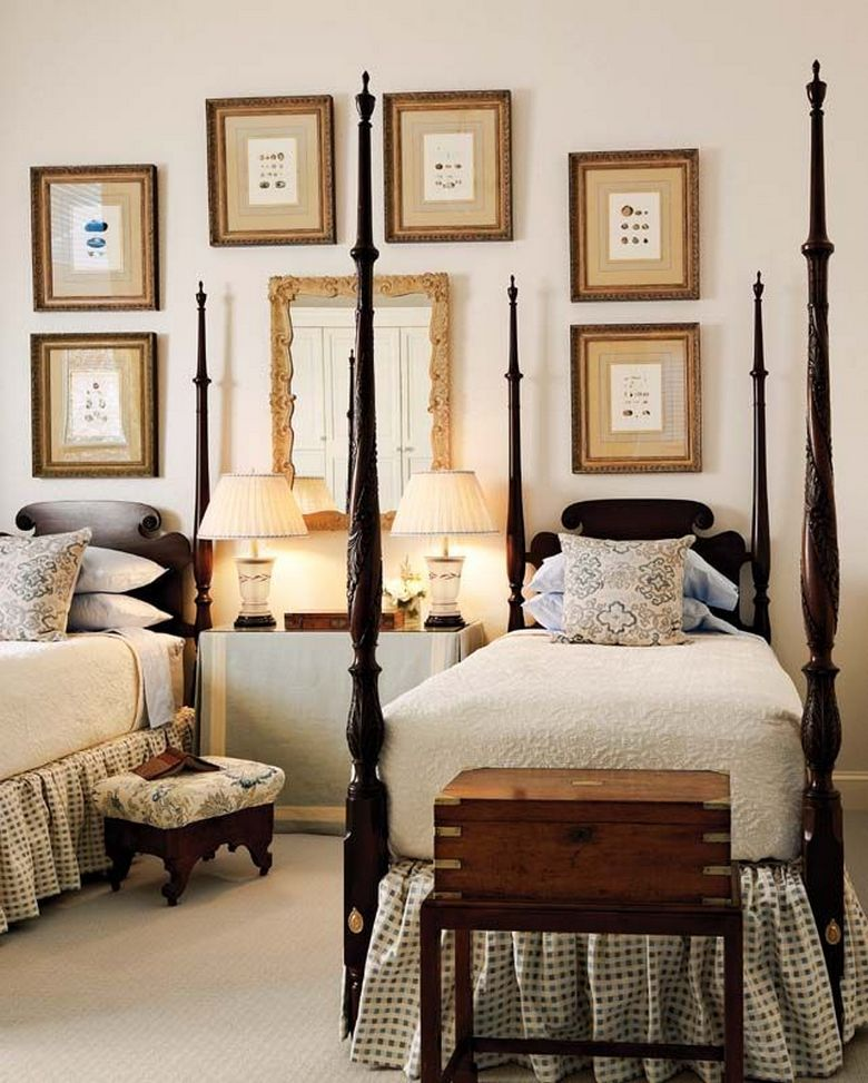 85 Master Bedroom Decoration Models With Two Beds Feel Comfortable In Use 21
