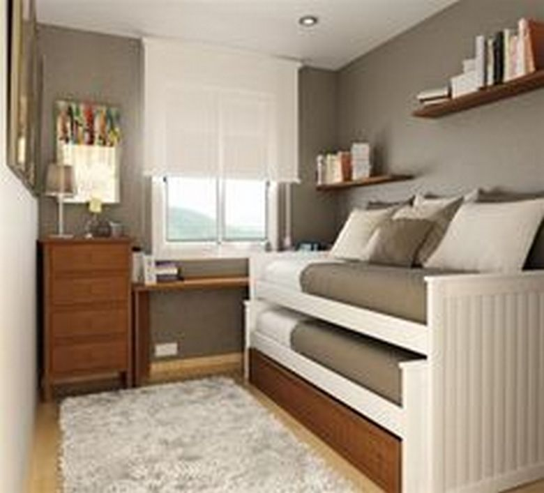 85 Master Bedroom Decoration Models With Two Beds Feel Comfortable In Use 32