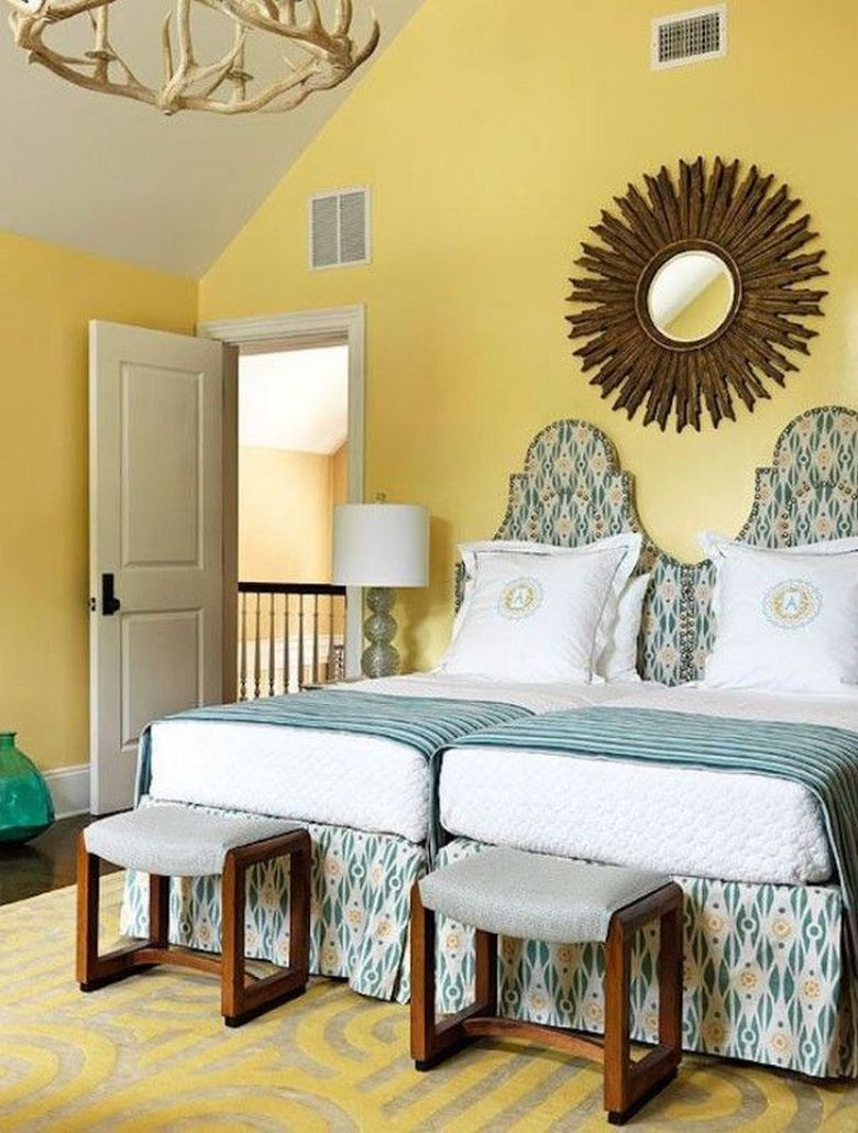 85 Master Bedroom Decoration Models With Two Beds Feel Comfortable In Use 36
