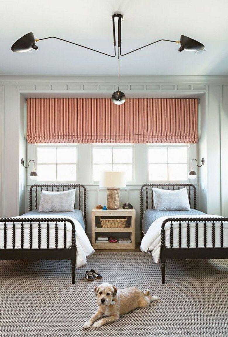 85 Master Bedroom Decoration Models With Two Beds Feel Comfortable In Use 38