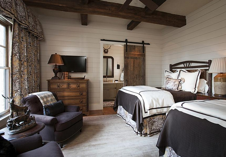 85 Master Bedroom Decoration Models With Two Beds Feel Comfortable In Use 4