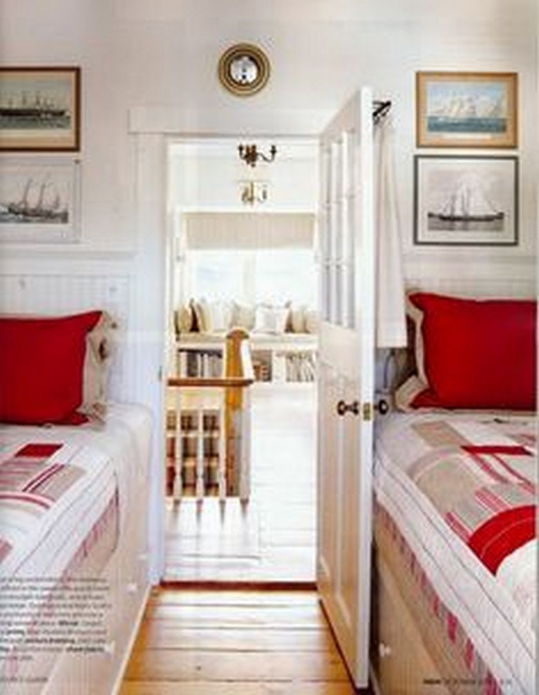 85 Master Bedroom Decoration Models With Two Beds Feel Comfortable In Use 42