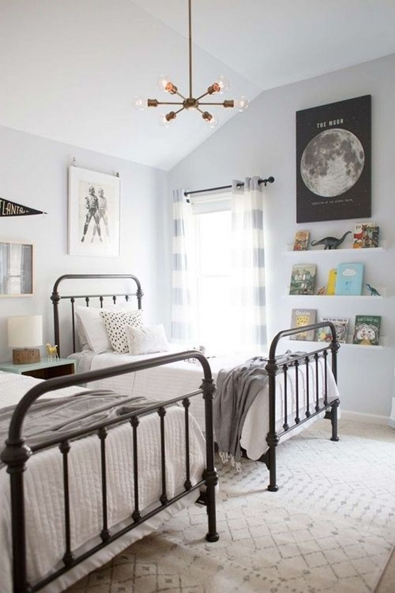 85 Master Bedroom Decoration Models With Two Beds Feel Comfortable In Use 47