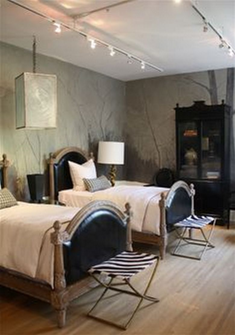 85 Master Bedroom Decoration Models With Two Beds Feel Comfortable In Use 49