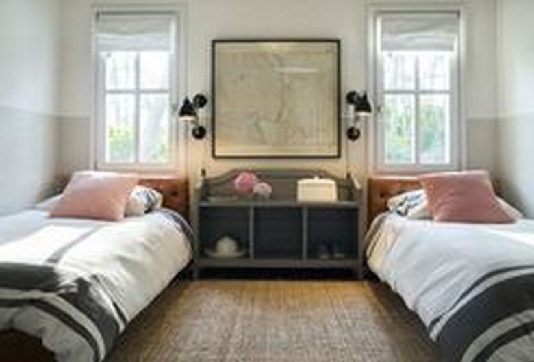 85 Master Bedroom Decoration Models With Two Beds Feel Comfortable In Use 52
