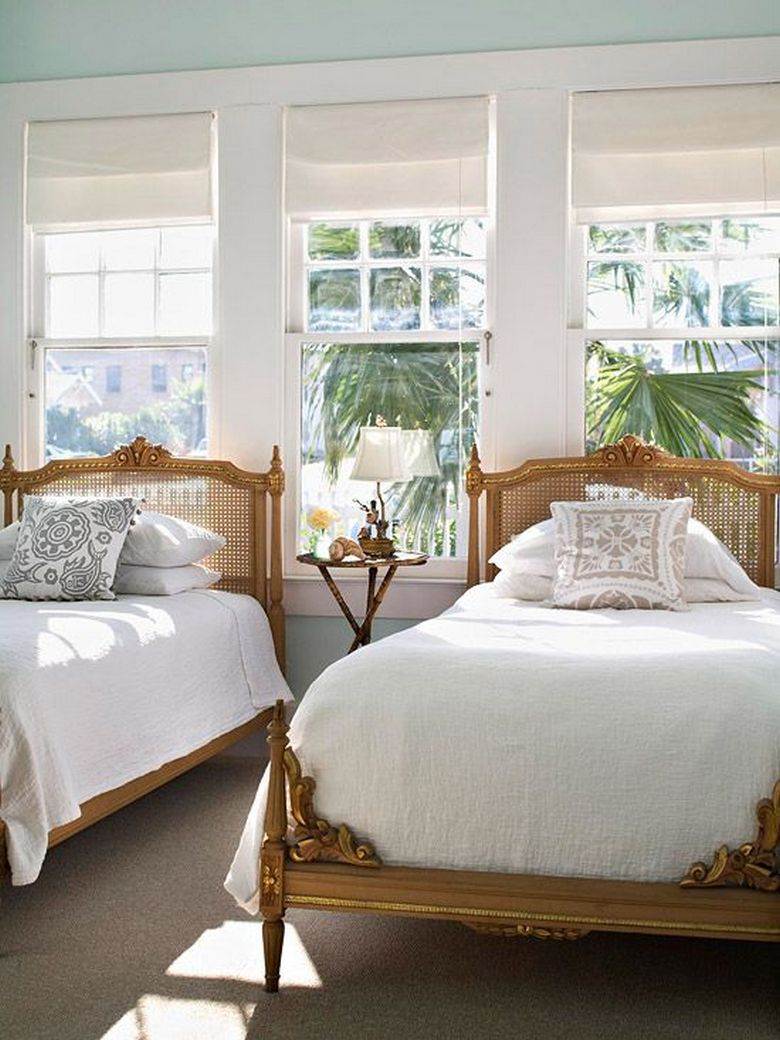 85 Master Bedroom Decoration Models With Two Beds Feel Comfortable In Use 58